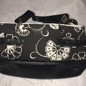 Tommy Hilfiger Women's Black and White Handbag